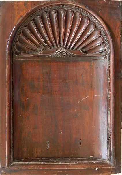 Carved architectural plaque