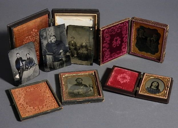 4 Tinptypes or Ambrotypes