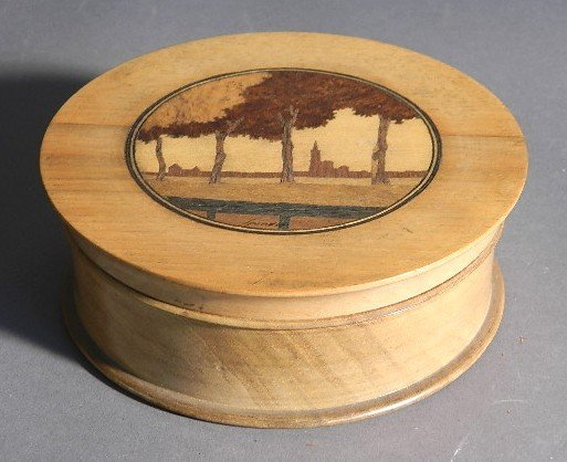 Charles Spindler marquetry box
