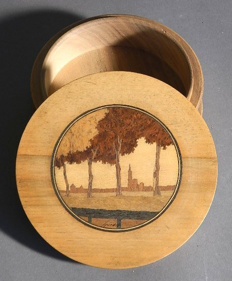 Charles Spindler marquetry box - 2