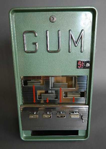 5 Cent Vintage Superior Mfg Gum Vending Machine