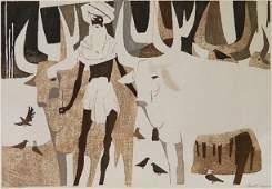 Paul B. Arnold woodcut