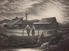 Jackson Lee Nesbitt lithograph