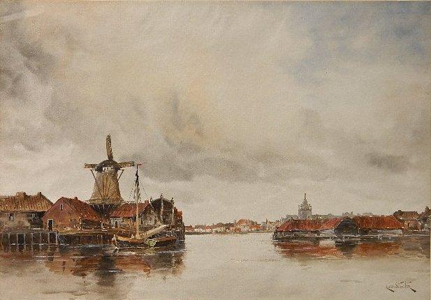 Hermanus Koekkoek II watercolor