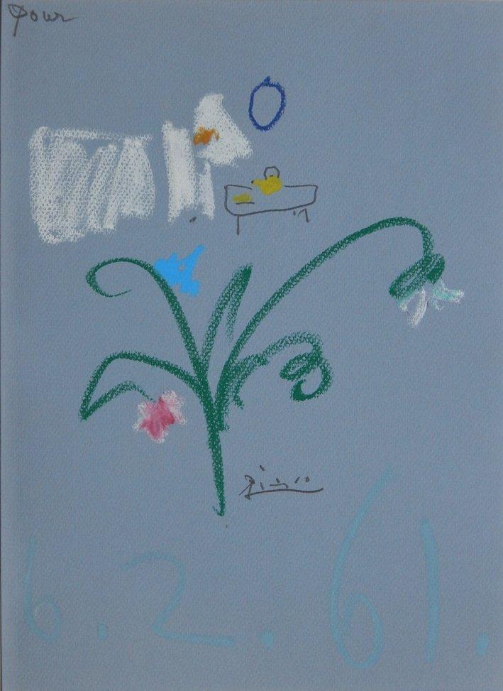 Pablo Picasso pastel