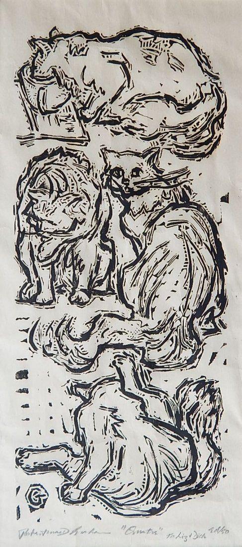 Robert MacDonald Graham Jr. woodcut