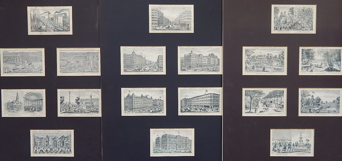 18 Steel engravings from Picturesque Chicago