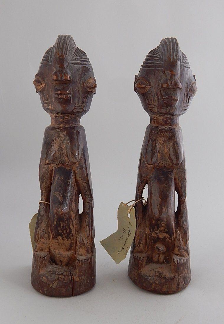 Pair of Yoruba Ibeji Twin figures