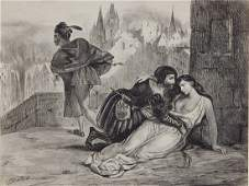 Eugene Delacroix lithograph