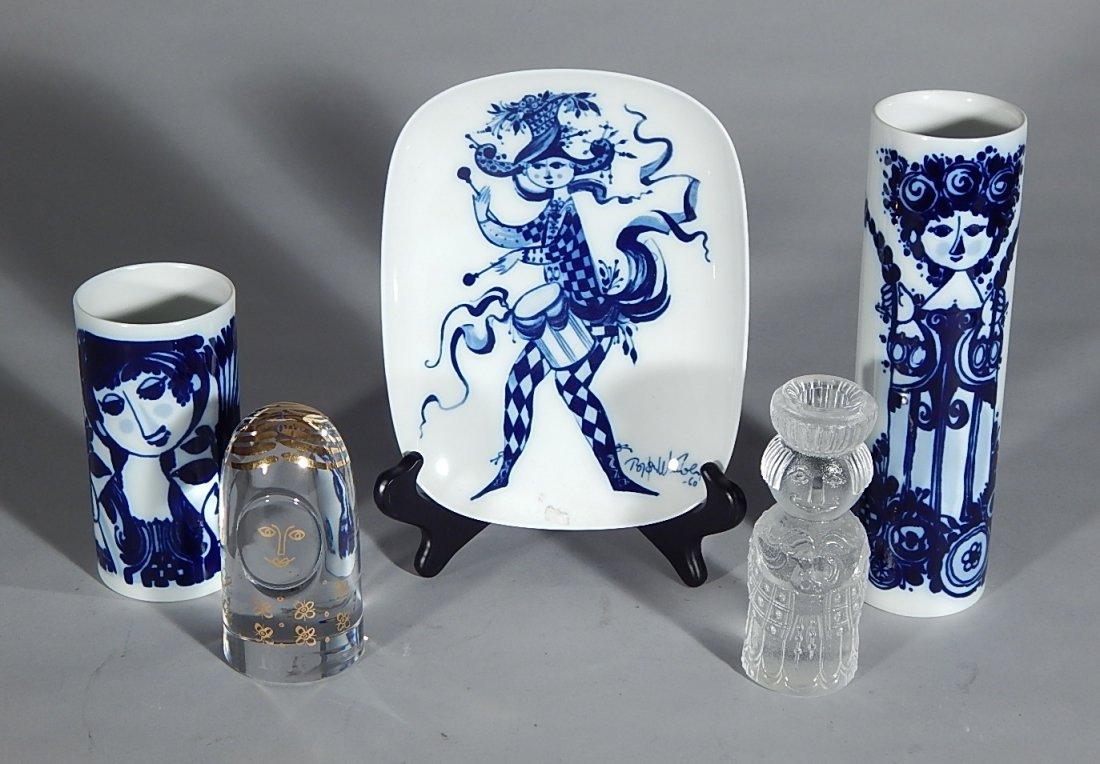 3 Bjorn Wiinblad porcelain pieces