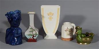 5 Pieces of MidCentury Modern pottery