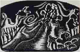 Helen West Heller woodcut