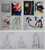 17 lithographs Calder Miro Giacometti