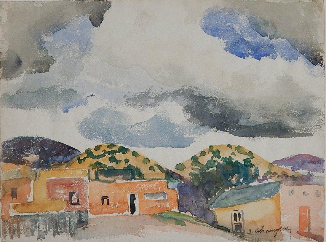 Israel Abramofsky watercolor