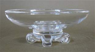 Steuben glass footed bowl