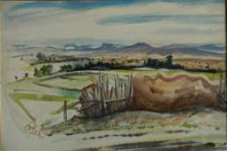 Henry G. Keller watercolor