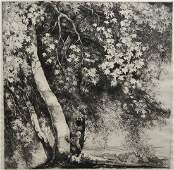 Mildred Bryant Brooks etching and drypoint