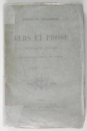 Mallarme - Vers Et Prose, Morceaux Choises