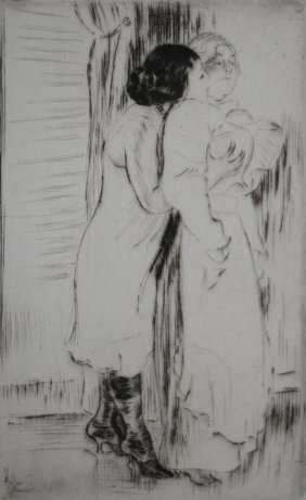 Louis A. Legrand Drypoint