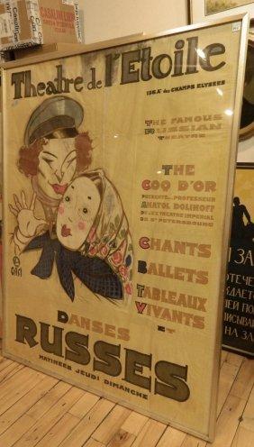 Poster- 'theatre De L'etoile / Danses Russes'