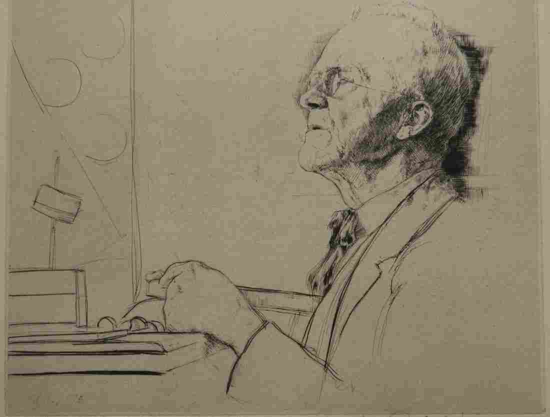 William Auerbach-Levy drypoint