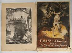 WWI Poster and Bolton Brown lithograph