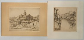 Ernest D. Roth 2 Etchings