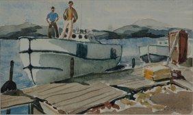 Myron R. Winder Watercolor
