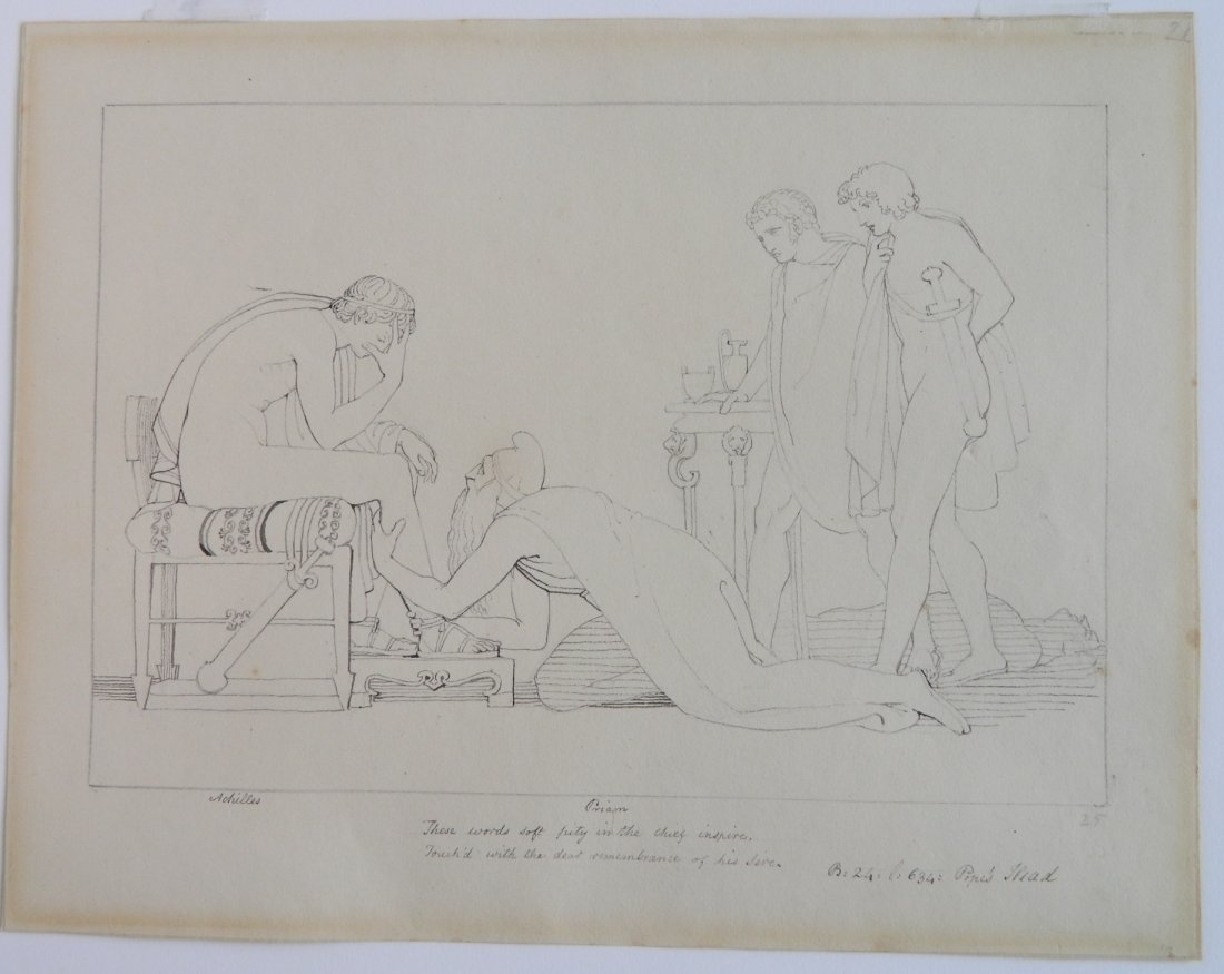 John Flaxman pen and ink