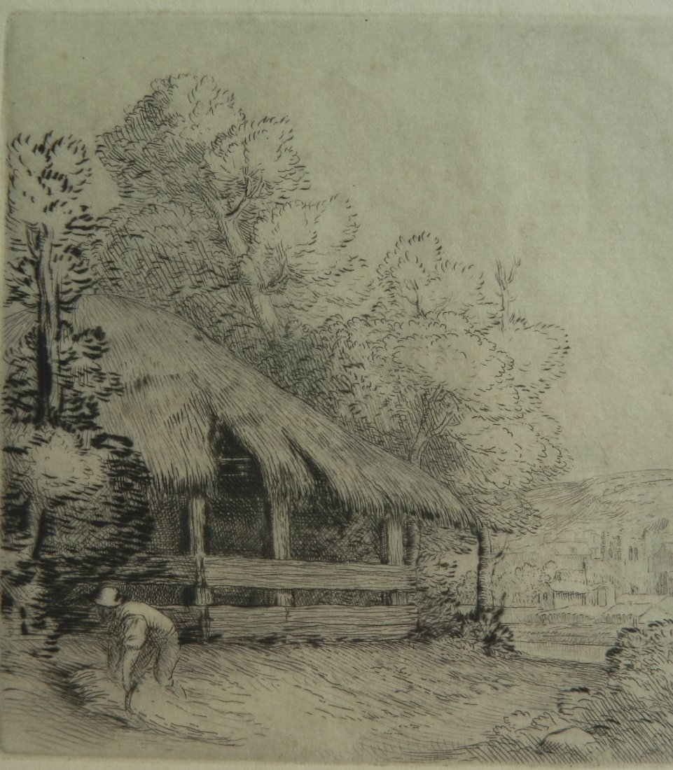 Alphonse Legros etching and drypoint