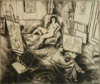 Emil Ganso etching and drypoint