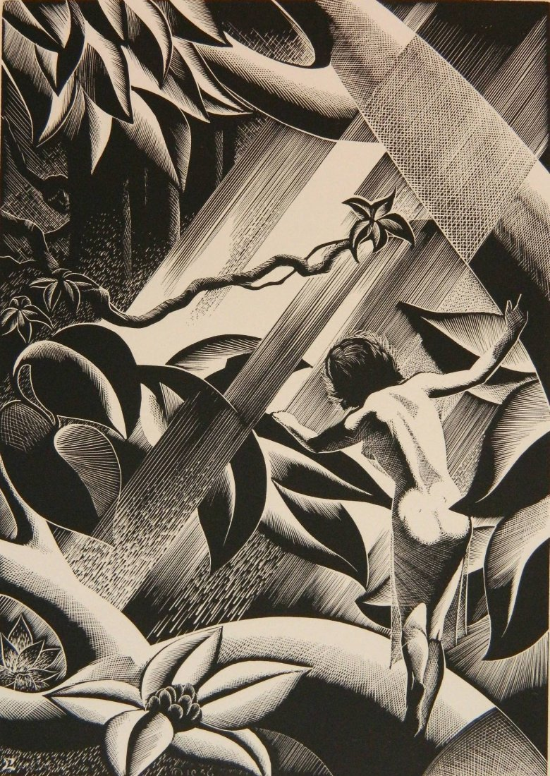 Paul Landacre wood engraving