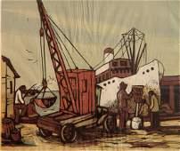 Leonard Pytlak woodcut in color