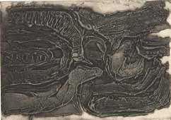 Mark Tobey carborundrum monotype