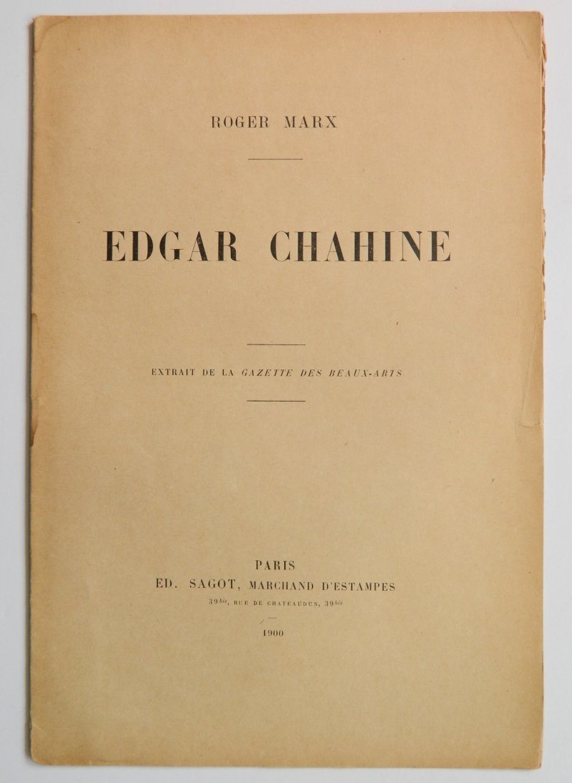 Edgar Chahine etching and drypoint