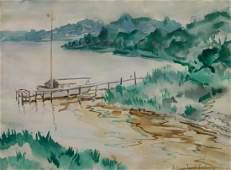William J. Eastman watercolor