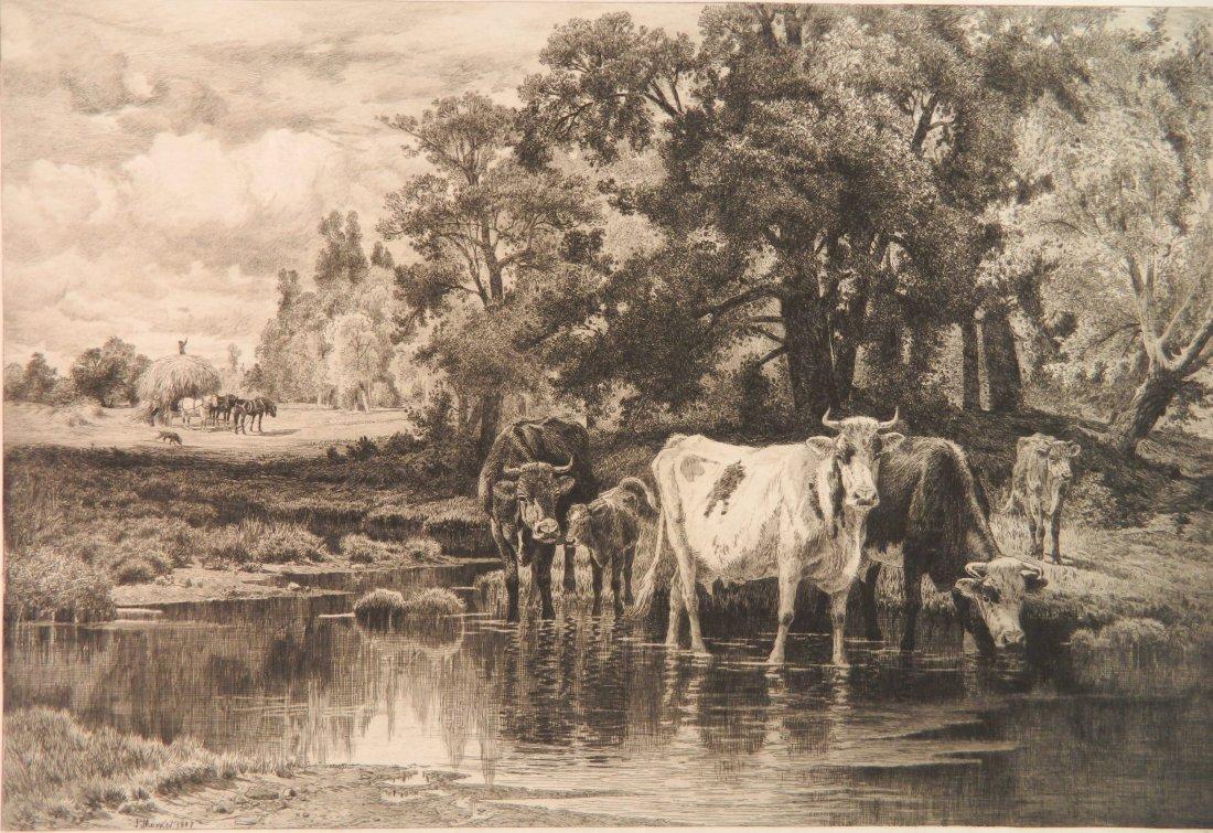 Peter Moran etching
