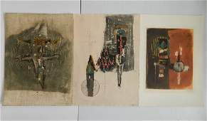 Johnny Friedlaender 3 etchings