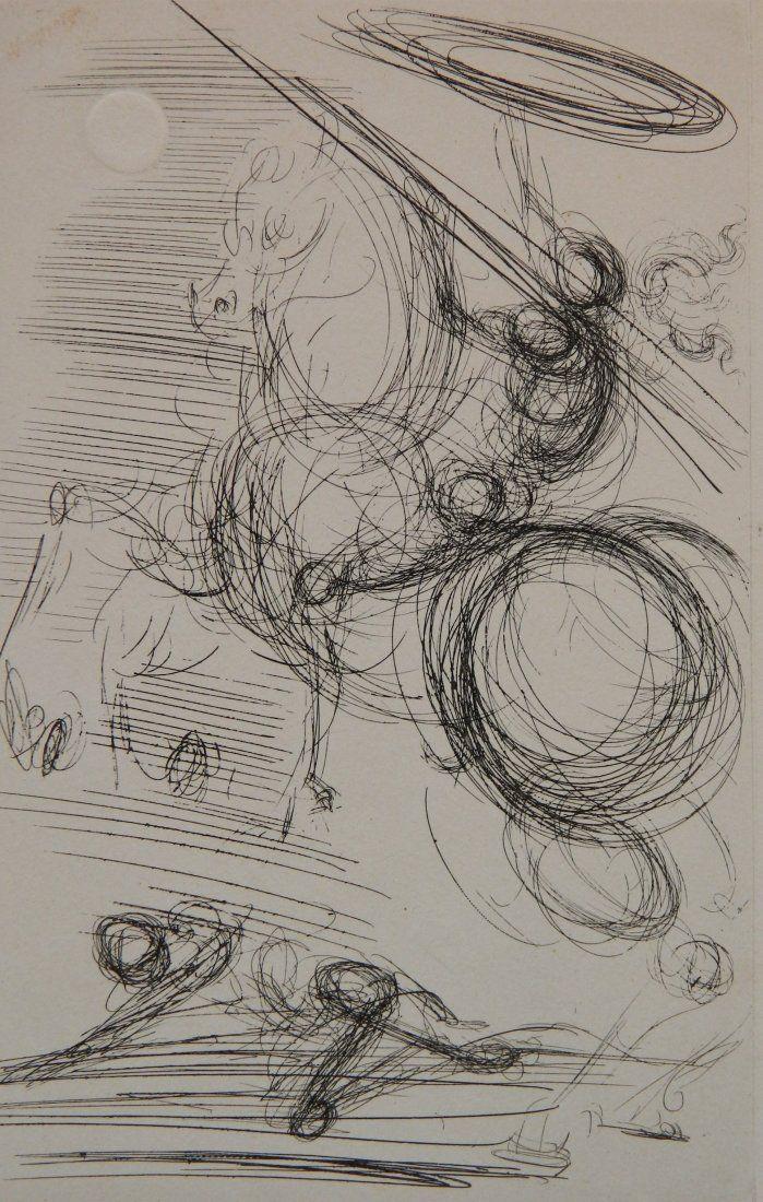 Salvador Dali etching