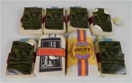 8 Vintage tobacco advertisement pouches