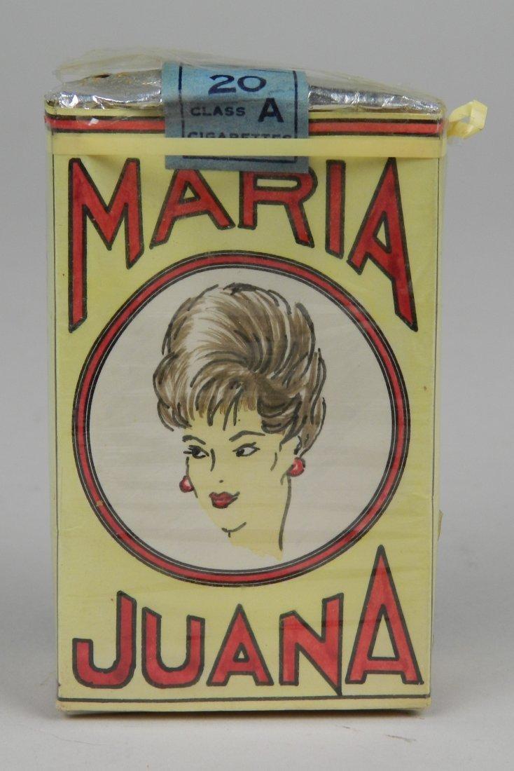 'Maria Juana' cigarette pack