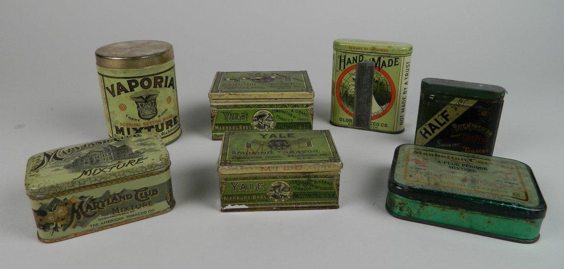 7 Vintage tobacco tins