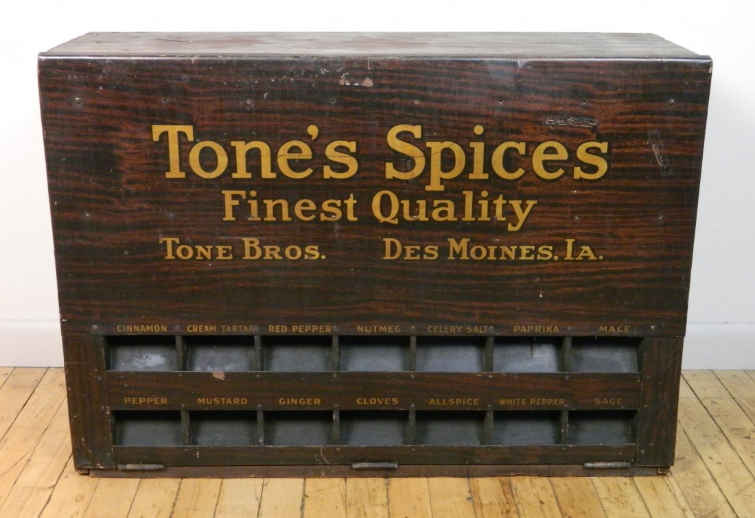 Tone's Spices Store Display Cabinet