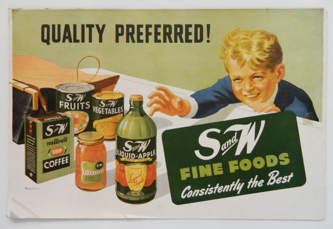 S & W Fine Foods sign
