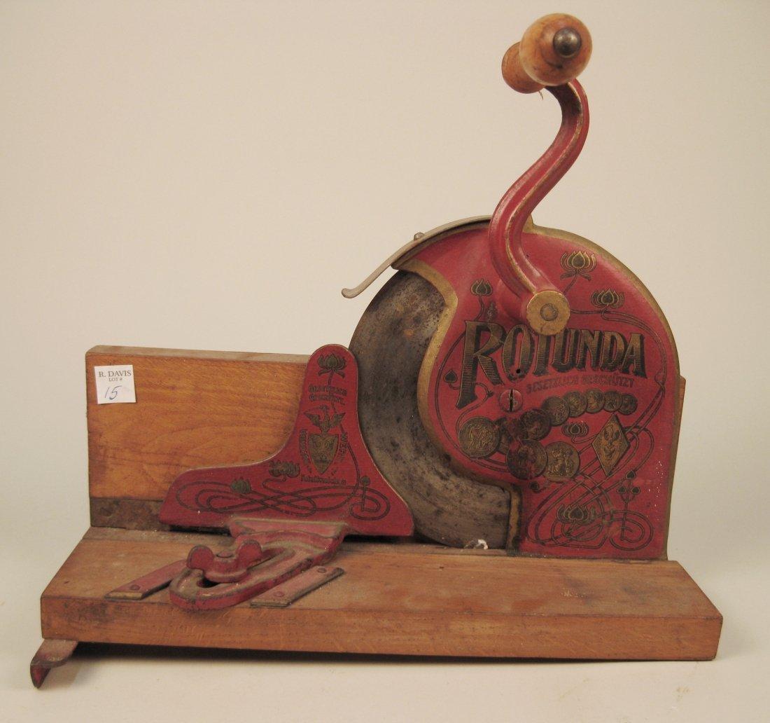 Vintage Rotunda meat slicer