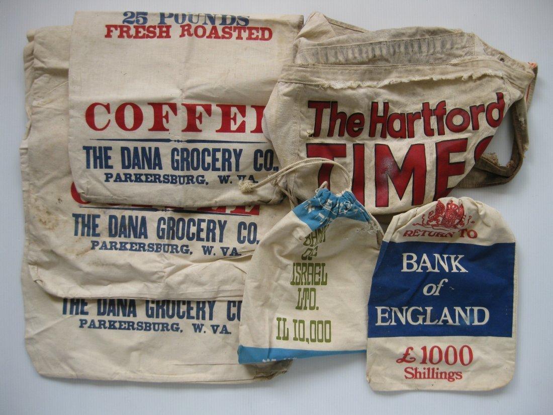 6 Assorted linen bags