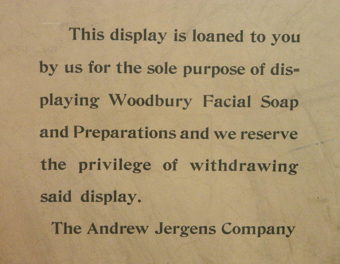 Woodbury's Facial Soap 3-way cardboard store sign - 10