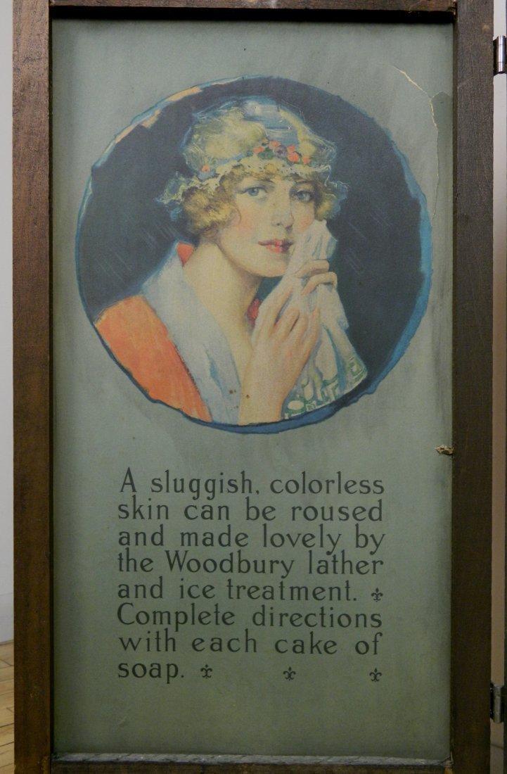 Woodbury's Facial Soap 3-way cardboard store sign - 2