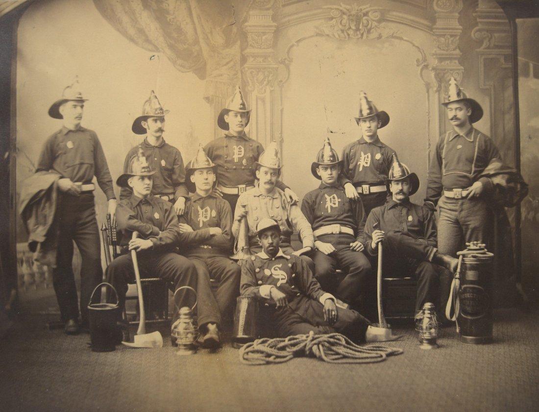 19th c. Vintage photograph of Firemen