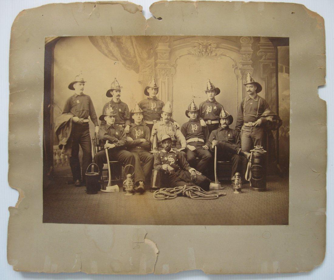 19th c. Vintage photograph of Firemen - 2
